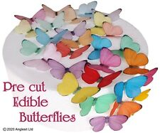 PRE-CUT GRADIENT BUTTERFLIES EDIBLE WAFER PAPER CUP CAKE TOPPER PARTY DECORATION