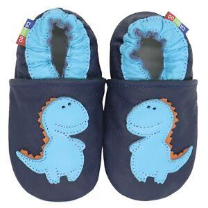 carozoo stegosaurus dark blue 12-18m new soft sole leather baby shoes