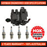 4x Genuine NGK Spark Plugs & 1x Ignition Coil for Hyundai ATOS MX (IL44)