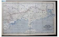 1891 Agassiz - SOUTHERN CHINA - Tong-King - TONKIN - Canton - COLOR ROUTE MAP -5