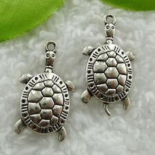 Free Ship 200 pieces tibet silver tortoise pendant 30x16mm #839