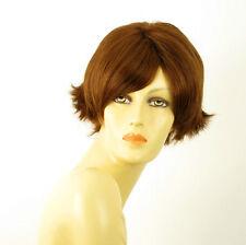 perruque femme 100% cheveux naturel châtain clair cuivré ref GABRIELLE 30
