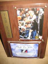Keith Van Horn '97-'98 Rookie Game Used Jersey Plaque