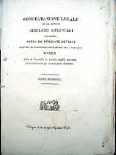 1836 AGRICOLTURA GIURIDICA GIROLAMO CALZOLARI BOLOGNA