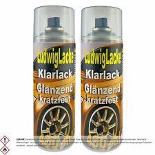 Klarlack kratzfest 2 Spraydosen glänzend je 400ml Autolack RAL Lack Neu