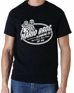 Super Mario Plumbing Co Retro Nintendo 80s Gaming Arcade T-Shirt