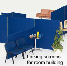 Linking Office Screen Divider Partition Panel - 3 Heights 7 Widths  9 Colours