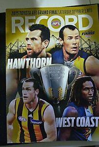 RARE  AFL Football Record 2015 - Hawthorn v's West Coast - Grand Final - Gold Ed