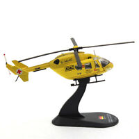 New 1:72 Scale German BK117 Light Rescue Helicopter High Imitation Alloy Model
