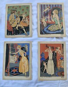 Carlos Bady - La Journee de Mado complete set of 4 beautiful prints