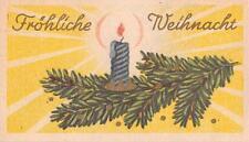 """Nostalgie alte Weihnachtskärtchen mit Umschlag """"Gold Prägedruck"""" 1950  """"3992"""""""