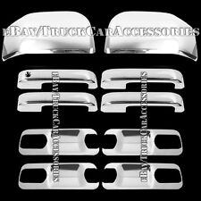 For FORD F-150 F150 2015 Chrome Covers 4 Door Handles+Back Plates+2 Half Mirrors