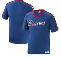 Mitchell & Ness Atlanta Braves Cotton Baseball Jersey New Mens X-LARGE MSRP $50