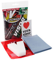 V2 SPONGE VISOR CLEANER KIT FOR MOTORCYCLE MOTORBIKE SPORTSBIKE SCOOTER HELMET