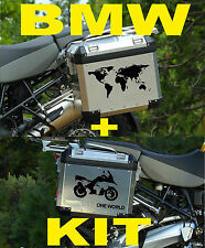 BMW MOTORCYCLE R1200GS/GSA WORLD MAP/BIKE L/R.PANNIERS/CASES DECAL/STICKERS.!!