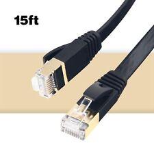 Câble réseau MKDGO Flat Cat7 Ethernet Câble de réseau LAN Slim Rj45 15...