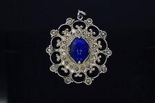 7851-925er Silber Anhänge Antik mit Jade+Marcasiten Maße 4,5x3,8 cm Gew 7,8 Gram