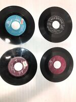 """45 RPM 7"""" Records (lot Of 4) See Photos For Titles & Condition. See Description"""