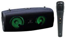 Rockville RPB-Kar Portátil Bluetooth Altavoz Micrófono De Karaoke + + LED de fiesta