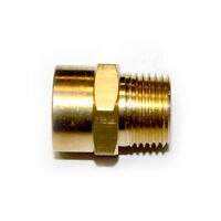 "3/8"" NPT Male x 3/8"" NPT Female Brass Hex Adapter - FB606"