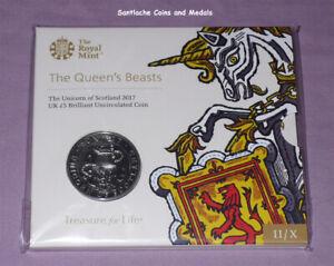 2017 ROYAL MINT SPECIMEN £5 CROWN - QUEEN'S BEASTS - Unicorn of Scotland