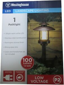 NEW Ledhill Westinghouse P2 LED Landscape Low-Voltage Bronze Pagoda Pathlight