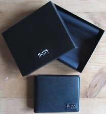 Hugo BOSS Men's Black Leather Wallet 'Monist' Bi-fold, Style 50261706