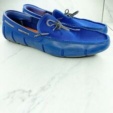 Swims Braided Lace Blue Loafers Shoes Size 11 Mens