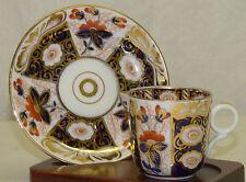 Schoenau Cobalt Blue Gold Imari Porcelain Demitasse Chocolate Cup & Saucer Set