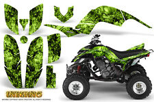 YAMAHA RAPTOR 660 GRAPHICS KIT CREATORX DECALS STICKERS INFERNO GREEN LIME