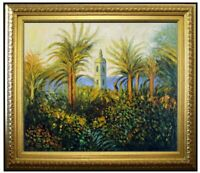 Framed Hand Painted Oil Painting Repro Claude Monet Garden in Bordighera 20x24in