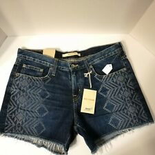 Big Star Women's Shorts Size 30 NWT Alex Raw Hem Denim Blue Jean 100% Cotton $98