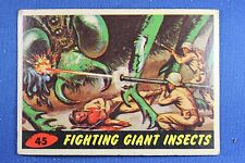 1962 Topps Bubbles - Mars Attacks - #45 Fighting Giant Insects - Vg Condition