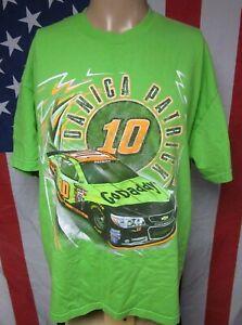 DANICA PATRICK tee XL female racing Nascar stock car Stewart-Haas #10 green