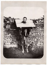 c.1890's PHOTO CHINA - CRIMINAL IN THE STOCK