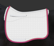 E.A. Mattes Dressage Eurofit Saddle Pad w/ Sheepskin Panels Large / White