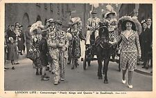 BR81873 london life costermonger pearly kings and queens in southwark chariot uk