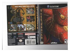 Spiderman 2 Nintendo Gamecube ARTWORK ONLY Authentic