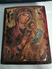 Griechische Byzantinische Ikone the virgin of the passion 16-17th