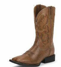 "Justin Hinton Burnished Brown 12"" Farm & Ranch Western Work Boots JB1113"