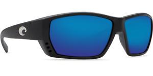 Costa Del Mar Sunglasses Tuna Alley Black Frame Blue Mirror lens 580G
