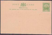 BERMUDA Ship Type ½d postcard fine unused..................................35360