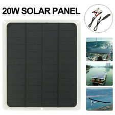 20W Solar Panel 12V Trickle Charge Battery Charger Maintainer Marine RV Car 2020