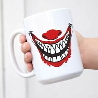 Big Mug Halloween Gifts Clown Face Photo Prop Decorations Coffee Tea Cup Ceramic