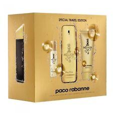 Paco Rabanne 1 / One Million 3.4 oz EDT Cologne + Shower Gel + 15 ml Travel Set
