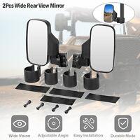 """2Pcs UTV Rear Side Mirror Set w/ 1.75"""" - 2"""" Clamp Roll Cage for Kubota, Yamaha"""