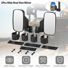 "Rear Mirror Set Utv Atv Side View High Impact Break Away 1.75"" - 2"" Roll Cage (Fits: John Deere)"