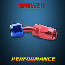Universal AN10 10AN 45 Degree Swivel Seal Fuel Adapter Hose End Fitting Red Blue