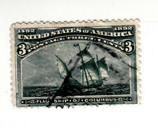Scott #232 US 1893 3 Cent Columbian Exposition Postage Stamp USED