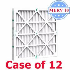 16x25x2 Air Filter MERV 10 Pleated by Glasfloss - Box of 12 - AC/Furnace Filters